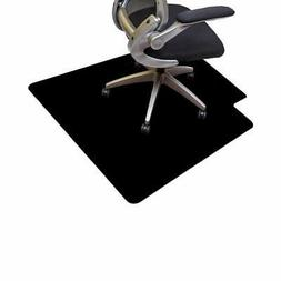 Office Black PVC Chair Mat for Hard Floors Protection 40 x 4