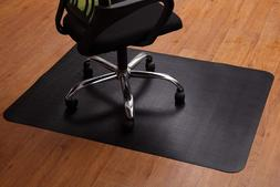 Office Chair Mat for Hardwood and Tile Floor, Black, Anti-Sl