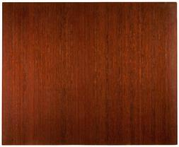 """48"""" x 60"""" Office Chair Mat Bamboo Roll-Up with 2"""" Slat in Na"""
