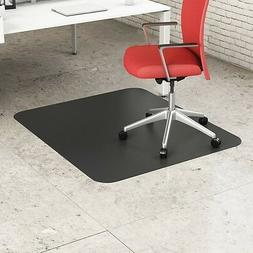 "Office EconoMat Straight Edge 45"" x 53"" Black Rectangle-Hard"