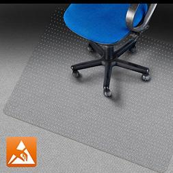 "Office Marshal Eco Office Chair Mat - 36"" x 48"", Multiple Si"