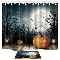 polyester fabric halloween shower curtain