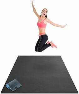 "Premium Large Exercise Mat 6' x 4' x 1/4"" Thick Fitness Work"