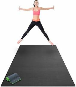"Premium Large Exercise Mat 8' x 4' x 1/4"" Thick Fitness Work"