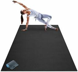 Premium Large Yoga Mat 7 x 5' x 8mm Extra Thick Wide Long Ex