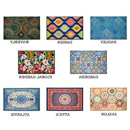 Kashi Home Printed Decor Area Rug, Floor Cover Mat, Contempo