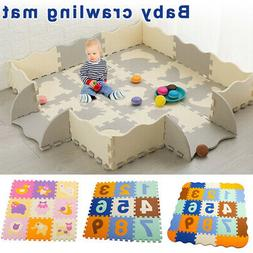 Puzzle Exercise Play Mats Crawling Mat Interlocking Foam Flo