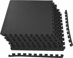 BalanceFrom Puzzle Home Gym Floor Cover Mat with EVA Foam In