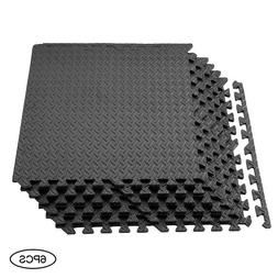 Puzzle Mat 6 Pieces Workout Gym Fitness Exercise Interlockin
