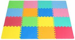 ProSource Puzzle Solid Foam Play Floor Mat Kids Toddler Baby