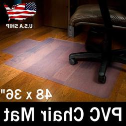 PVC Rolling Computer Chair Mat Protector for Hardwood Floor