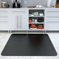 Deflecto EconoMat Black Chair Mat, Hard Floor Use, Rectangle