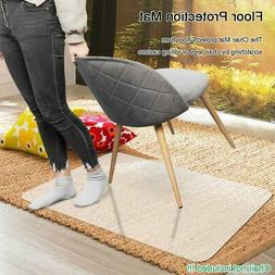 Rectangle PVC Home Office Chair Floor Mat Studded Back for P