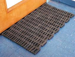 "Recycled Rubber Tire Link Mats 24"" x 36"""