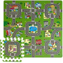 Sorbus Traffic Play mat Puzzle Foam Interlocking Tiles – K