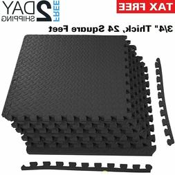 Rubber Puzzle Mat Gym Fitness Floor Exercise Interlocking Ru