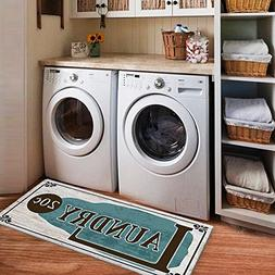 USTIDE Rustic Style Non Skid Floor Mat Laundry Room Mat for
