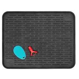 """Silicone Dish Drying Mat for Kitchen Countertop XXL 23"""" x"""