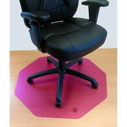 Smooth Back Chair Mat in Cerise Pink
