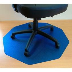 Smooth Back Chair Mat in Cobalt Blue