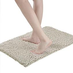 LANGRIA Soft Plush Chenille Yarn Shaggy Mat Anti-slip Back B