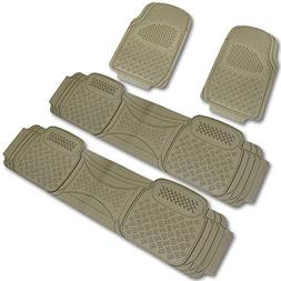 Spec-D MAT-4001BGE Beige All Weather Floor Mats 4pcs