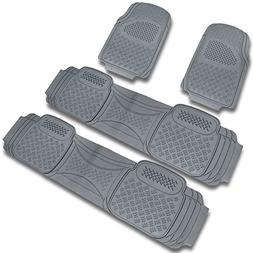 Spec-D MAT-4001GRY Gray All Weather Floor Mats 4pcs
