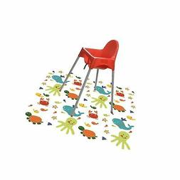 Splat Mat for Under High Chair/Arts/Crafts, Wo Baby Reusable