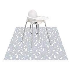 "Splat Mat for Under High Chair/Arts/Crafts, Womumon 53"" Wa"