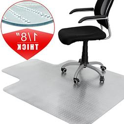 """F2C 48-Inch by 36-Inch 1/8"""" Thickness Plastic Floor Office C"""