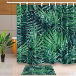 Tropical Plants Decor Dark Green Palm Tree Mildew Resistant