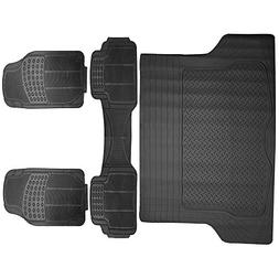 SCITOO Universal Car Floor Mats, Durable Rubber Anti-Skid He