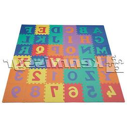 CLOSEOUT! 36 SQ FT UPPERCASE ABC/123  KIDS FOAM PUZZLE PLAY