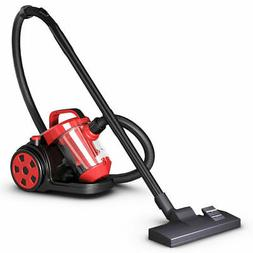 vacuum cleaner canister bagless cord rewind carpet