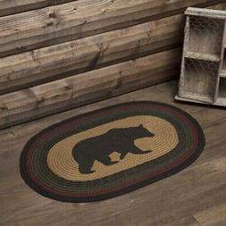 VHC Wyatt Small Rug Floor Mat Jute Rustic Bear Print Choose