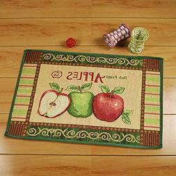 yazi Vintage Apples Jacquard Cotton Fiber Rectangular Bedroo