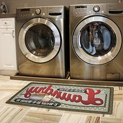 Brandream Vintage Laundry Room Floor Mat for Wash Room Non S