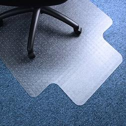 """Marvelux 36"""" x 48"""" Vinyl  Lipped Chair Mat for Very Low Pile"""