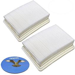 HQRP 2-pack Washable & Reusable Filters for Hoover FH40010 /