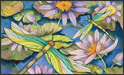 Toland Home Garden Water Lilies and Dragonflies 18 x 30-Inch