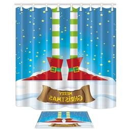 Winter Festival Decor Elfs Legs Christmas Stars Mildew Showe