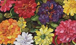 Toland Home Garden Zippy Zinnias 18 x 30 Inch Decorative Flo